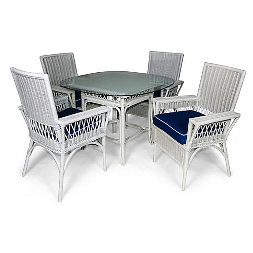 Windsor 5-Pc Outdoor Dining Set, Navy
