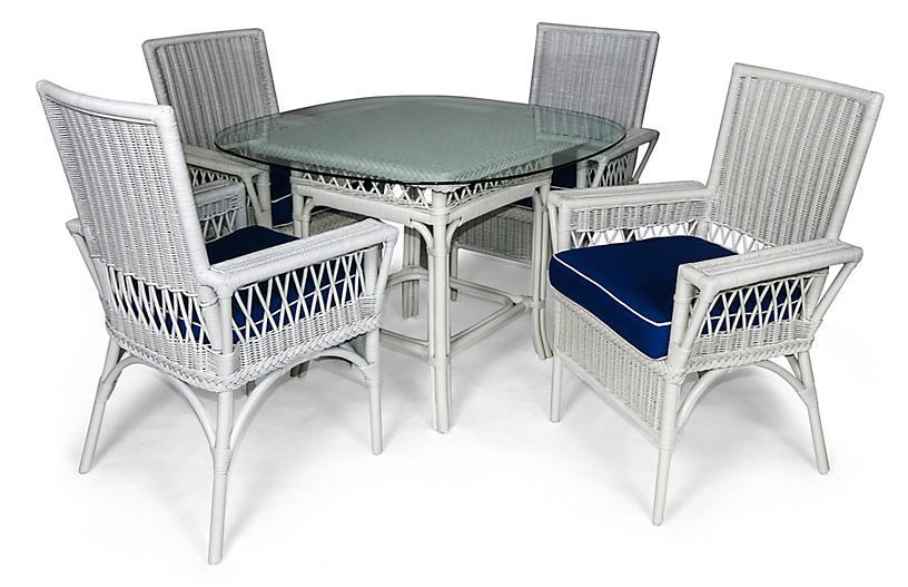 Windsor 5-Pc Outdoor Dining Set, Navy