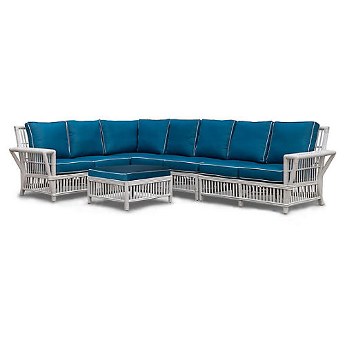 Williamsburg 5-Piece Sectional, Blue