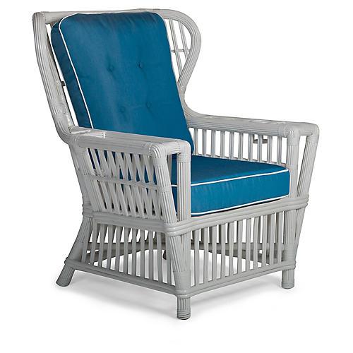 Williamsburg Wingback Chair, Blue