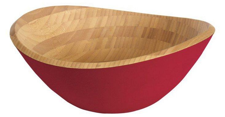 """14"""" Hue Bowl, Burgundy"""