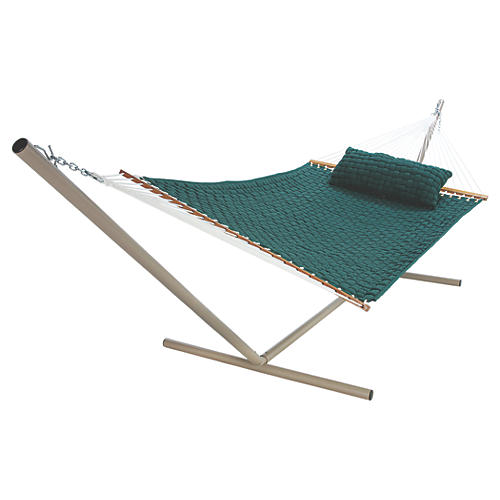 Large Annie Soft Weave Hammock, Green