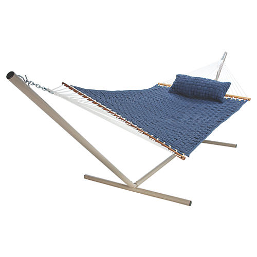 Large Annie Soft Weave Hammock, Blue