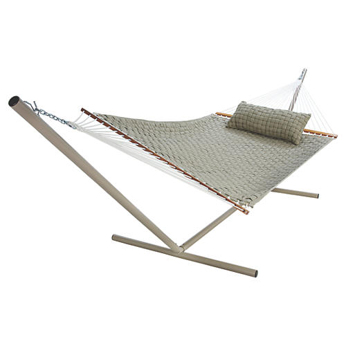 Large Annie Soft Weave Hammock, Flax