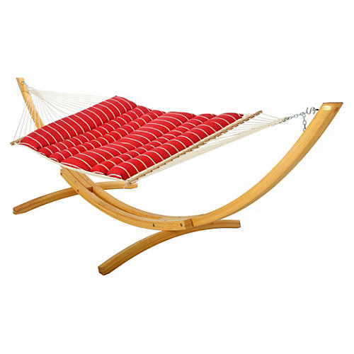 Lea Pillowtop Hammock, Red Stripe