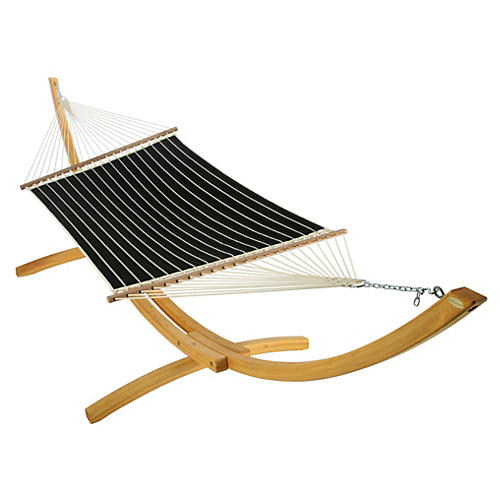 Rosie Quilted Hammock, Black Stripe