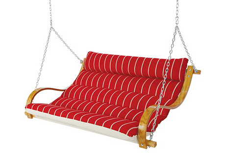 Deluxe Marquis Cushion Double Swing, Red