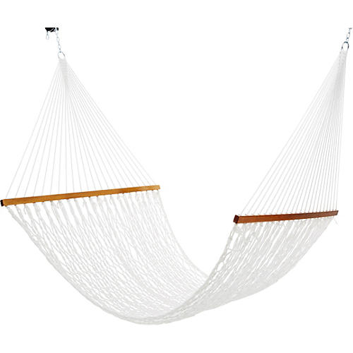 White Polyester Rope Hammock, Large