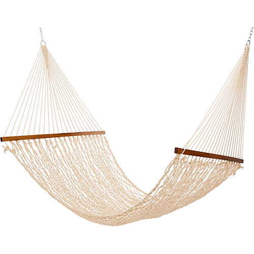 Oatmeal All Weather Rope Hammock, Large