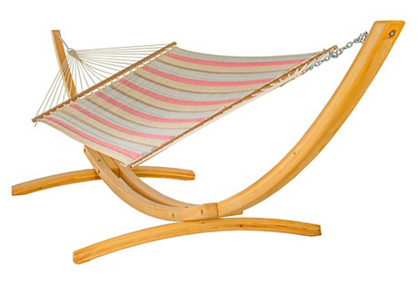 Large Quilted Hammock, Pink Sunbrella