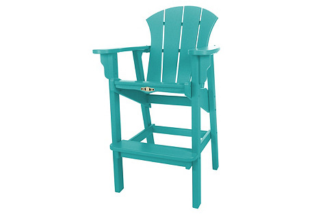 Sunrise Barstool, Teal