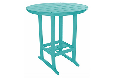 Sunrise Outdoor Bar Table, Teal