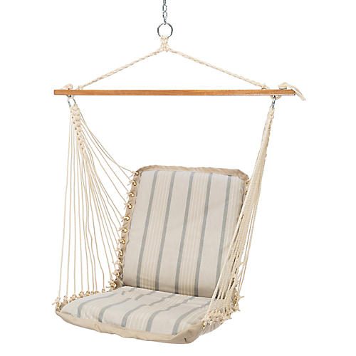 Cushioned Hammock Swing, Cove Pebble