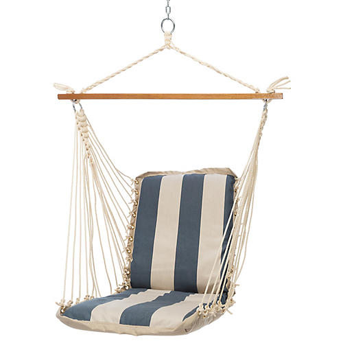 Cushioned Hammock Swing, Regency Indigo
