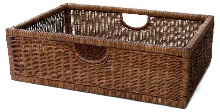 Wicker Nightstand Basket