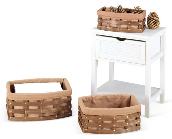 S/3 Curved Baskets