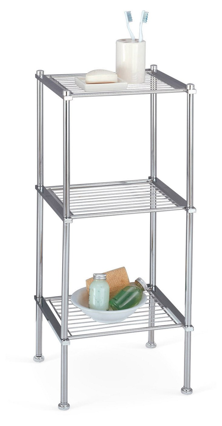 3-Tier Chrome Shelf