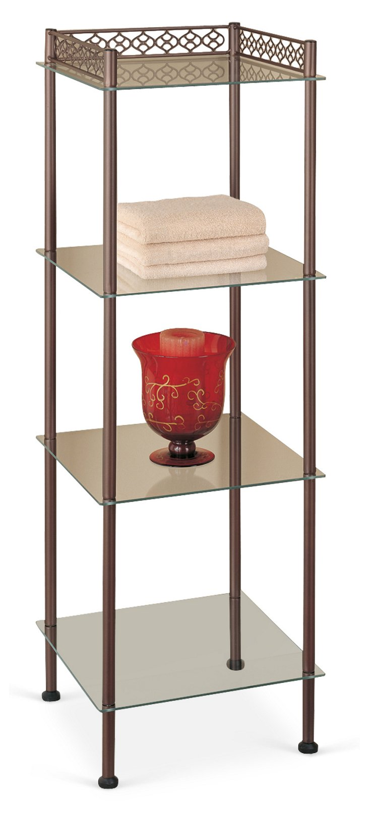 4-Tier Bronze Shelf Tower