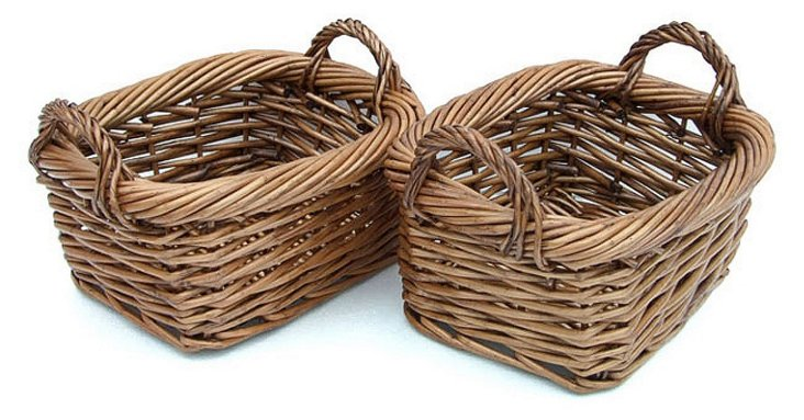 S/2 Rounded Willow Baskets