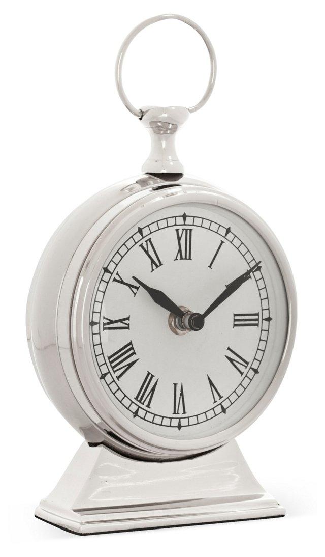 "7"" Table Clock, Silver"