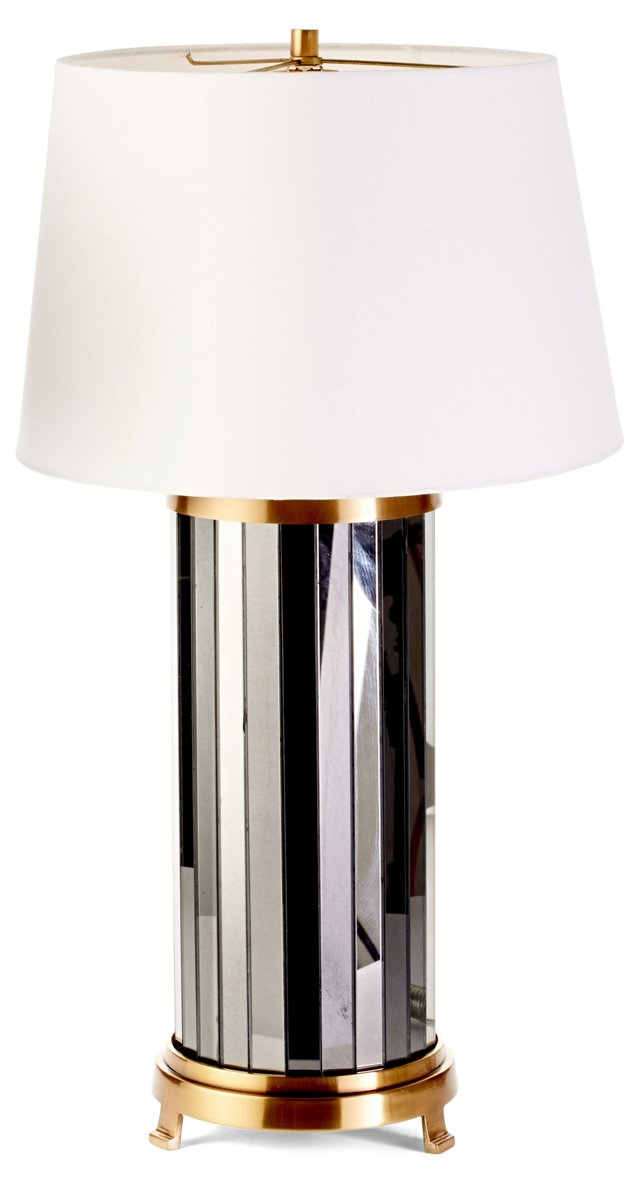 Sinclair Table Lamp, Antiqued Pewter