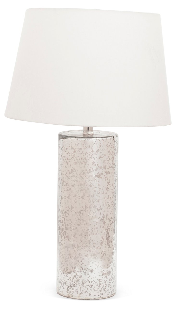 Glass Table Lamp, Mercury Glass