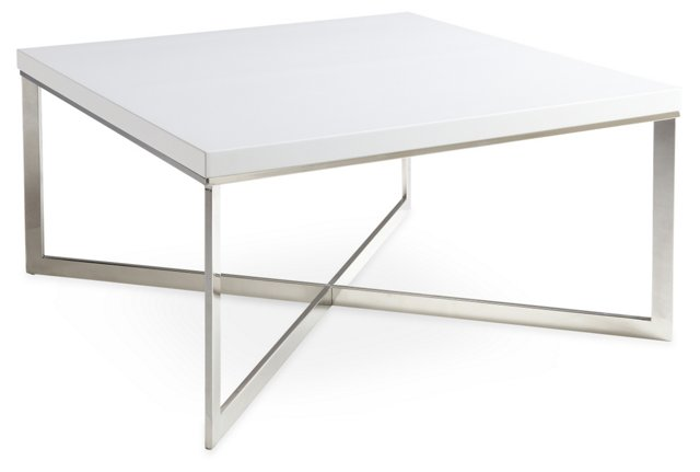Griffin Square Coffee Table, White