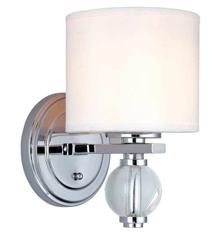 Bentley 1-Light Wall Sconce, Chrome
