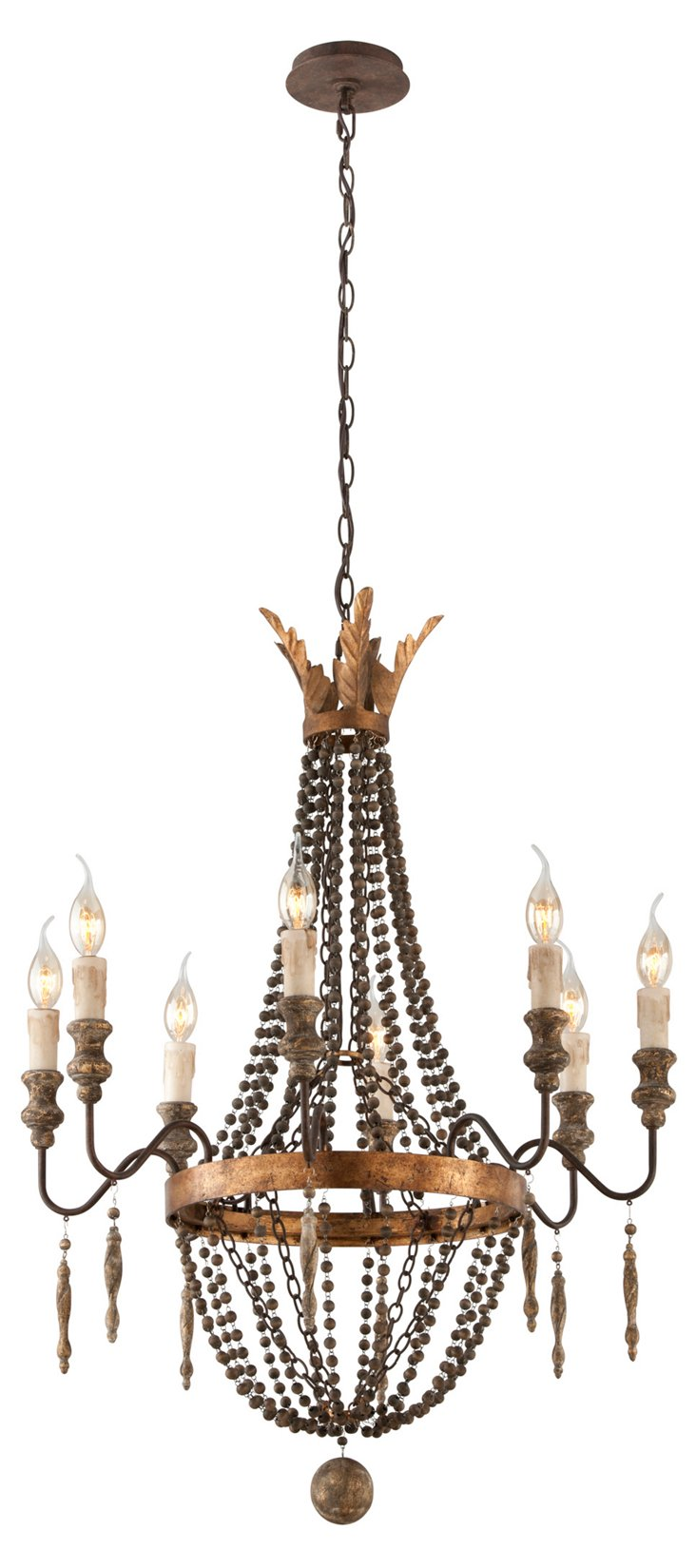 Delacroix 8-Light Chandelier, Bronze