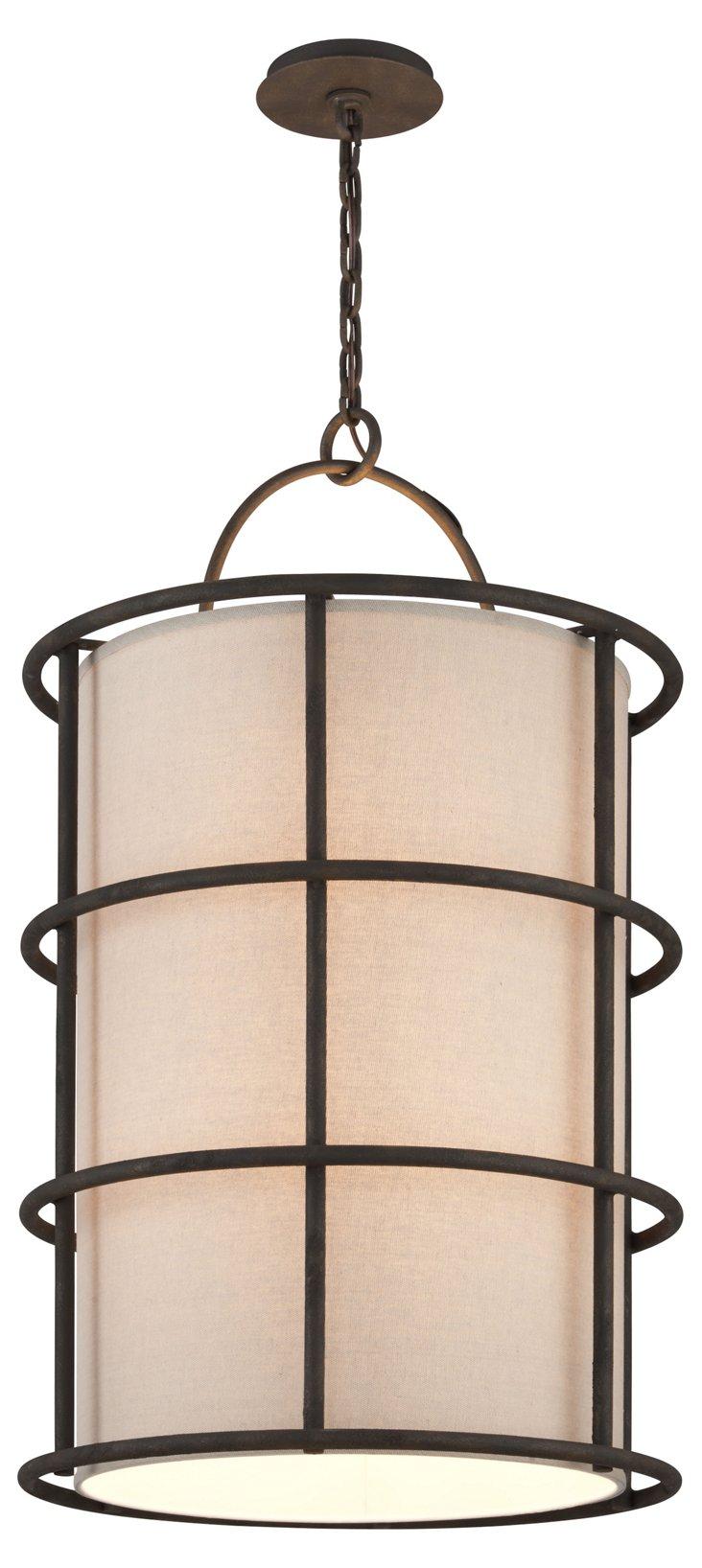 Haven 8-Light Lantern, Rust