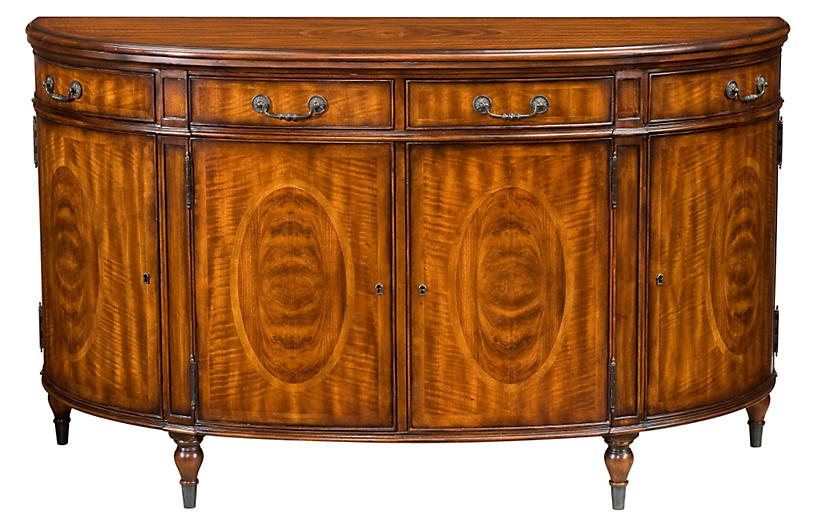 Assembly Demilune Sideboard, Tawny
