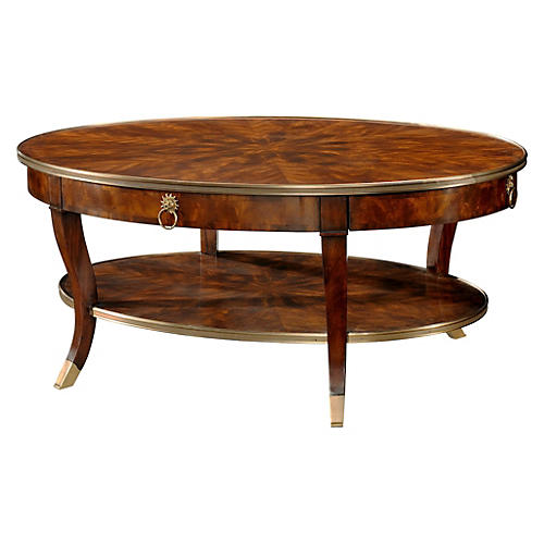 "Circles 52"" Oval Cocktail Table, Tawny"