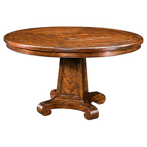 "Regency 54"" Round Dining Table, Caramel"