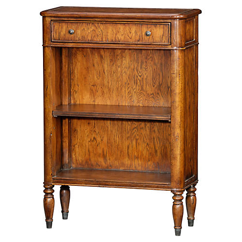 "Neville Small 25"" Shelved Console, Pecan"