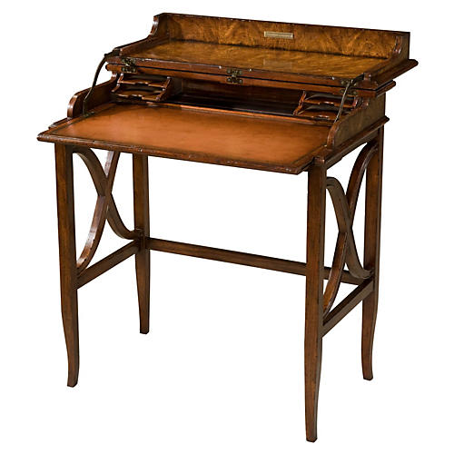 Brooksby S Leather Campaign Desk Brown