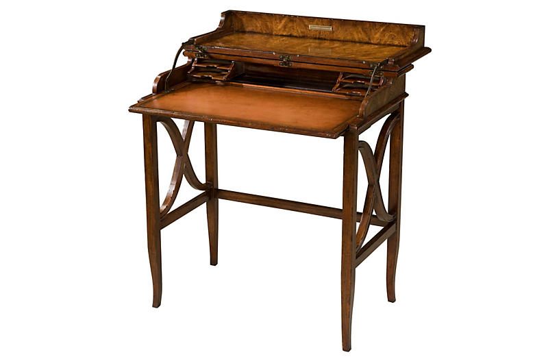 Brooksby's Leather Campaign Desk, Brown