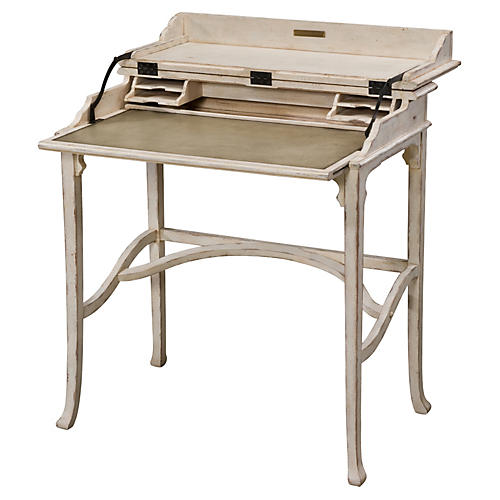 Country House Kaye Desk, Weathered White