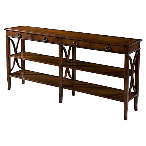 "Trocadéro 72"" Shelved Console, Brown"