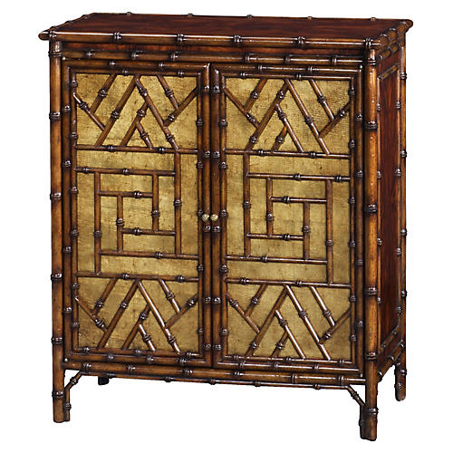 "Argent 30"" Bamboo Cabinet, Dark Brown"