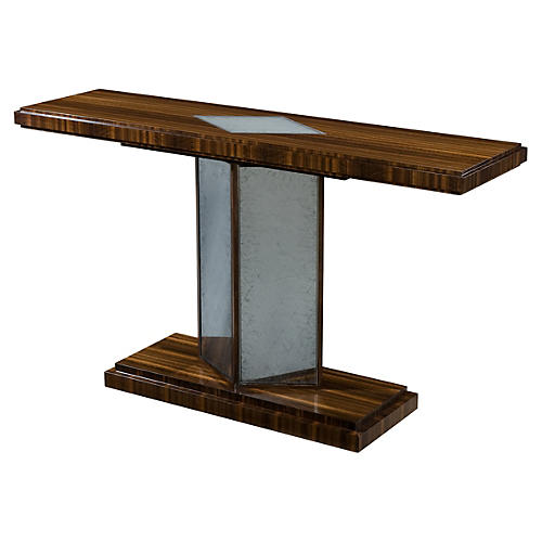 "Obscurité 60"" Mirrored Console, Brown"