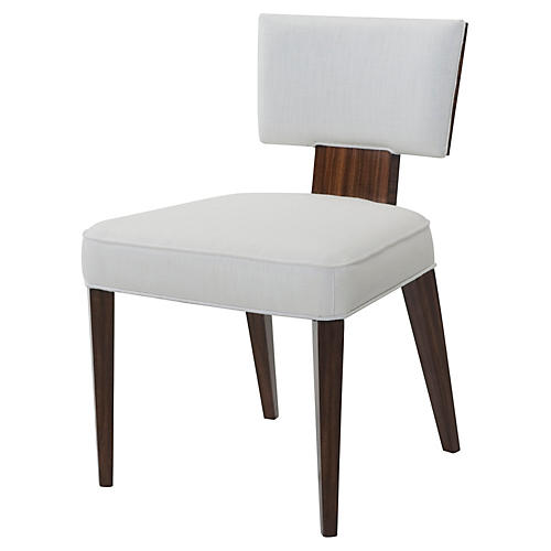 55 Broadway Side Chair, Ivory Linen