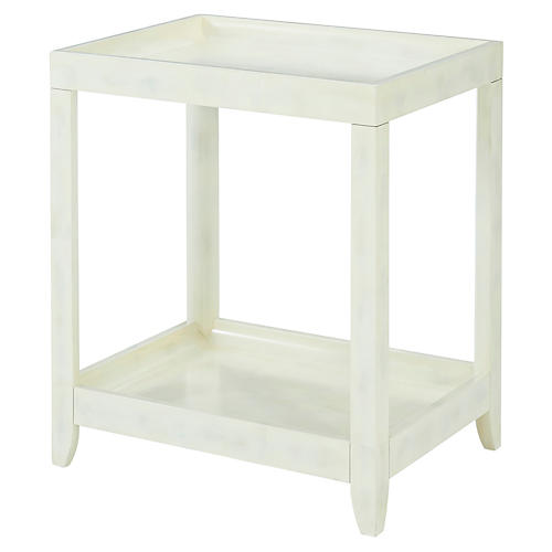 Brentwood Side Table, Eggshell White