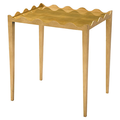 Descano Side Table, Gold