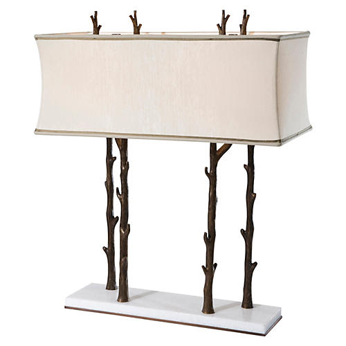 Winter Table Lamp, Brass