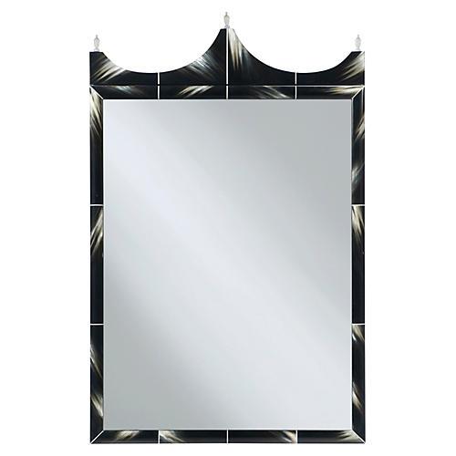 Talbert Oversize Mirror, Black