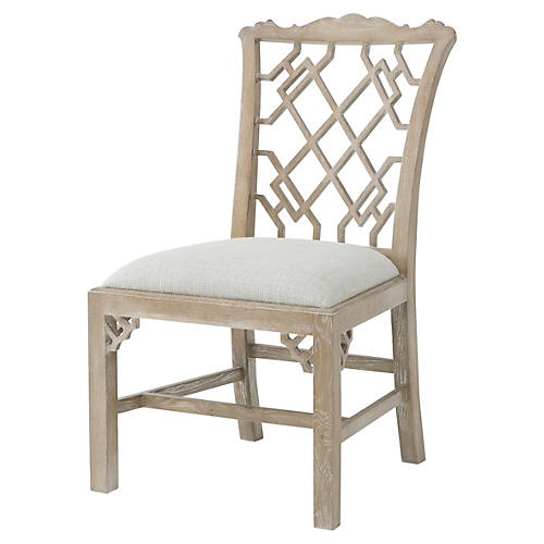 Sea Cliff Side Chair, Whitewash