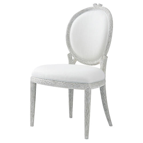 Claude Side Chair, Chalk Gray