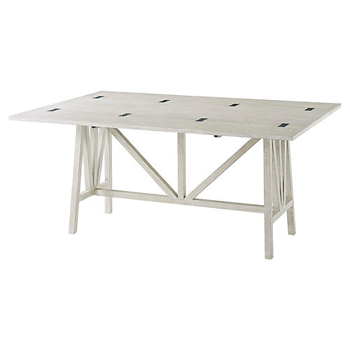 "Tillman 65"" Dining Table, Driftwood"