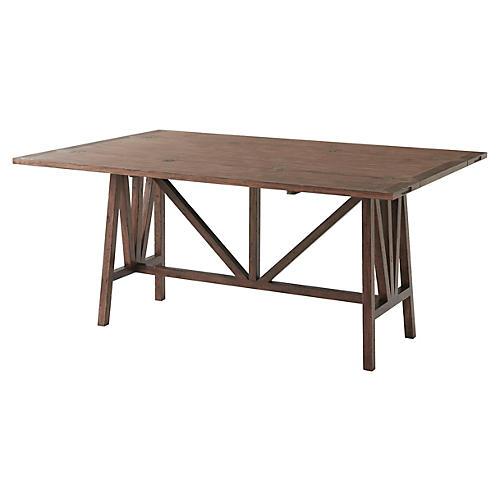 "Dakota 65"" Dining Table, Natural"