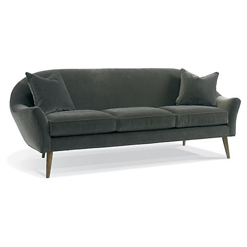 "Blair 91"" Modern Sofa, Mink"